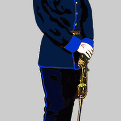Oberleutnant der Hoch- und Deutschmeister zur Parade (1914)