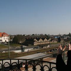 Crowdfunding Bad Nauheim, Blickrichtung in etwa der noch fehlenden Webcam 2 - Maschinenzentrale - Alte Wäscherei - Salinenareal, Foto: Bruno Rieb 11.03.2014