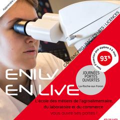 ENILV - CAP | BAC PROFESSIONNEL | BAC GÉNÉRAL | BAC TECHNOLOGIQUE | CS | BTS | LICENCES  Portes ouvertes: Samedi 15 Février 2020 09:00-13:00  ENILV - 212, rue Anatole France - 74800 La Roche-sur-Foron  04 50 03 01 03 | www.enilv74.org