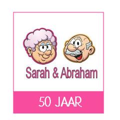 Sarah en Abraham versiering