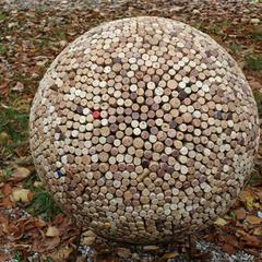 Kugel aus Weinkorken - 60cm - 2012