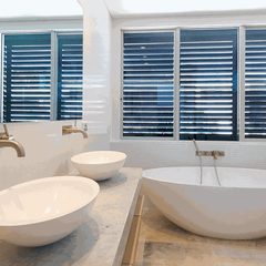 Sydney bathroom renovations Double basin with matching freestanding bath