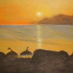 Impressionen von Mallorca 1,  40x30, 2009, Pastell auf Papier