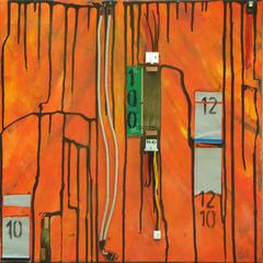 System Error, Acryl-Collage auf Leinwand, 50x50cm, 2012