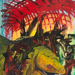 Evolution, Acryl auf Leinwand, 70x100cm, M. Huber und S. Ulrich, 2014