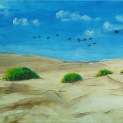 Zugvögel, Acryl auf Leinwand, 60x50cm, 2013