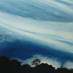 Nebelwald, 36x48, 2013, Pastell auf Papier
