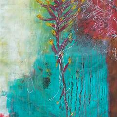 Dschungel I, Acryl auf Leinwand, 155x70cm, 2014