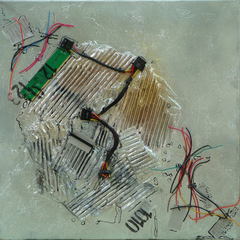 Crash, Acryl auf Leinwand, 50x50cm, 2012
