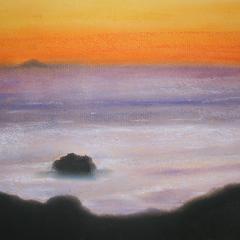 Impressionen von Mallorca 2, 25x32.5, 2009, Pastell auf Papier
