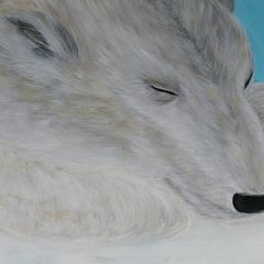 Schlafende Schönheit, 2012, 80x40, Acryl auf Leinwand