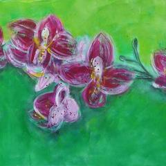 Tropische Schönheit, Acryl auf Leinwand, 2013
