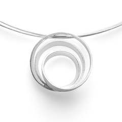28300   -   Anhänger | Sterlingsilber Markante Spiral-Optik by Nadine Resch