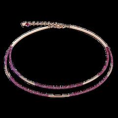 4998100300   |   Halskette Wasserfall small Edelstahl roségold & Glas rot