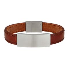 897 017   |   SON Armband braunes Kalbsleder 21cm 12mm