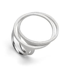 28100   -   Ring | Sterlingsilber Charakterstarker Doppel-Ring