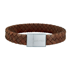 897 014   |   SON Armband braunes Kalbsleder 23cm 12mm