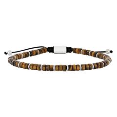 889 005   |   SON Armband glänzend gelbes Tigerauge 19-25cm