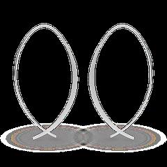 12831   -   Ohrhänger | Sterlingsilber Sinnlicher Ohrschmuck mit bestechend individueller Formgebung