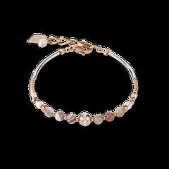 4992301012   |   Armband Kugel Botswana Achat & Edelstahl roségold beige-grau