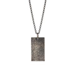 267 003   |   SON Rhodinierte Silber Halskette cracked