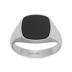 167 000   |   SON RHODINIERTER SILBER RING MIT SCHWARZEM ONYX Ein klassischer, maskuliner Ring in modernem Design! Dieser Ring von SON of NOA aus rhodiniertem Silber mit einem schwarzen Onxy ist trendstark. Der markante Ring ist ein absolutes Muss...