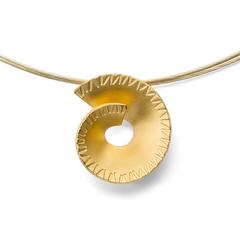 29000   -   Anhänger | Sterlingsilber Designstarker Schneckenanhänger aus vergoldetem Sterlingsilber