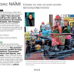 """""""Cédric Naïmi, l'homme qui aime les murs colorés"""". Numéro 1 Oceana Magazine"""