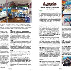 """""""Graff'Art prend pour cible le fameux lit Hästens"""". Numéro 1 Oceana Magazine"""