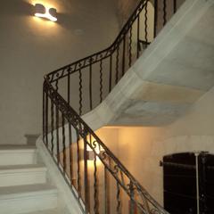 Restauration d'un escalier à limon XVII° à Uzès (30)