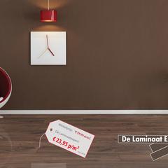 KRONOTEX laminaat wit eiken 7mm - ondervloer, plinten inclusief leggen - kliksysteem BK31 Landhuis stijl laminaat
