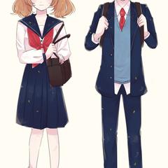 二十憑き家の許嫁という企画に参加した際のキャラクター。泣き虫双子の梢(左)と樹(右)