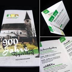 Folder anlässlich der 900-Jahr-Feier von Reyersdorf