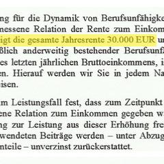 Alte Leipziger Dynamikbedingungen 2010