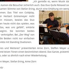 """""""Heiteres und Weiteres"""" - Lesung in der Wasserburg Anholt (Pressebericht """"Mein Isselburg"""")"""