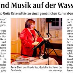 """""""Heiteres und Weiteres"""" - Lesung in der Wasserburg Anholt (Pressebericht BBV)"""