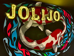 xola, shora, mural, graffiti, wallart, streetart, urbanart, jolijo, sapporo, hokkaido, susukino, koi, show museum, dance, club