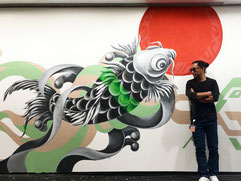 xola, art, painting, rinpaeshidan, mural, koi, indeed, tokyodex