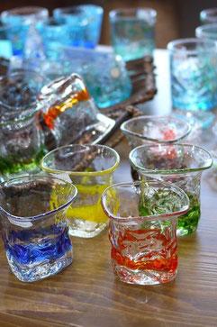 器と珈琲 Lien りあん のギャラリー: 琉球ガラス りあんで一番人気の小ぶりのグラス