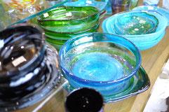 器と珈琲 Lien りあん のギャラリー: 琉球ガラス サラダボウル