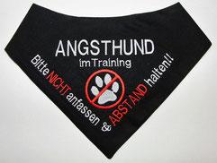 Angsthund Halstuch, Angsthund im Training, Kenndecke