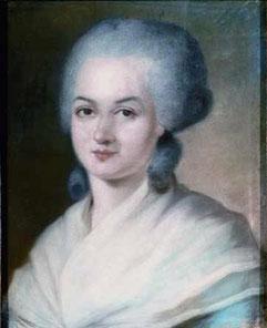 Marie-Olympe de Gouges (portrait par Alexandre Kucharski) [Public Domain]