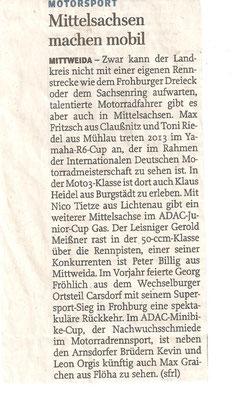 Freie Presse Rochlitz April 2013