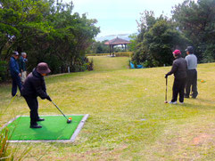 太平洋を望むパークゴルフ場