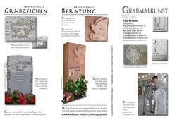 Prospekt für Grabmalkunst Aussenseite