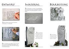 Prospekt für Grabmalkunst Innenseite