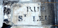 La vieille inscription de la rue Saint-Leu