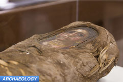 portrait mummy scanned with synchrotron on display