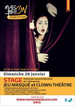 clown theatre avec laurent martinet, art therapie