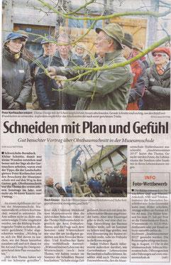 Obstbaum schneiden Gärtner Peter Korfmacher gibt Tipps